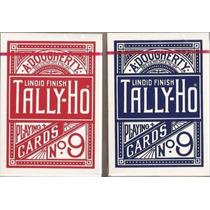 Baralho Tally-ho Circle Back Azul Ou Vermelho Tally Ho Poker