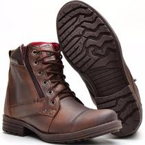 Sapato Botina Casual Social Masculino Ziper Bota Franca