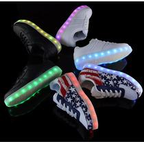 Tenis Led-zapatos Luminosos Unisex Diferentes Modelos!!!
