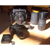 Cámara Nikon- Lente Zoom Telefoto Sigma 70/300 Y Accesorios