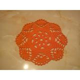Juego De 6 Carpetitas Circulares Y/o Cuadradas.crochet