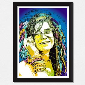 Quadro Janis Joplin Música Rock Pop Art Exclusivo Decoração