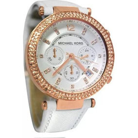 Relógio Michael Kors Mk2281 Branco Rose Original C Cx C2012