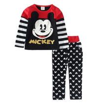 Conjunto Infantil Mickey Mouse Menin Pronta Entrega Promoçao