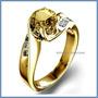Anillo Compromiso Zafiro Amarillo Natural .60ct Oro 14k -50%
