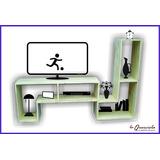 Modulo L - Divisor De Ambientes- Mesa De Tv Lcd - Rack -