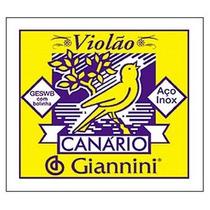 Encordoamento Cordas Violão Giannini 011 Canário Geswb Aço