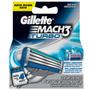 Carga Gillette Mach 3 Turbo - Pack Com 4 Cartuchos