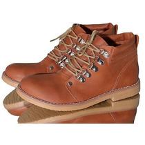 Zapatos Bajos T/ Kickers Acordonados Ecocuero Mujer Escolar