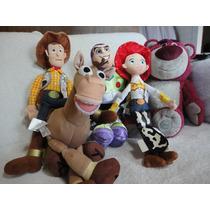 Woody + Buzz + Bala + Jessie+lotso Toy Story Plush 5 Bonecos