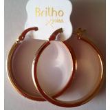 Argollas Preciosas Dama Brilho Cartier En Oro Laminado 18k