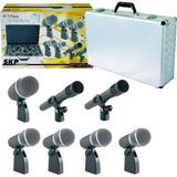 Set Microfonos P/ Bateria Skp Dx 7 De 5 Cuerpos + 2 Aereos
