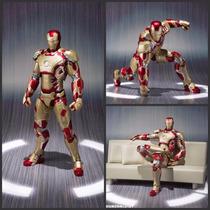 Action Figure Homem De Ferro - Mark 42 - Shfiguarts + Brinde