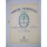 Antigua Partitura Himno Nacional Argentino Cancion Patria