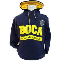 Boca Juniors - Buzo Capucha Adulto -caballito Estacion Puan