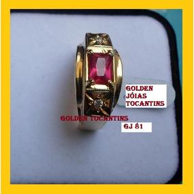 Anel De Formatura Mais Barato Folheado A Ouro Gj 210
