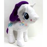 Peluche My Little Pony Rarity 27cm Pelo Tela Mirá!