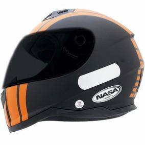 Capacete Nasa Sh-881 Thunder Preto Fosco/laranja-lançamento