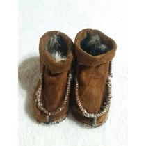 Escarpines De Cuero 10 Cm Zapatos Bebé Corderito