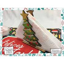 Servilletero Evento Personaliza Madera Navidad Fiestas Arbol
