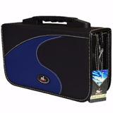 Case Porta Cd Dvd Blu-ray Maleta 80 Mídias Jiadai® Proteção