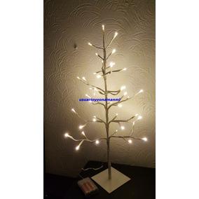 Arbolito Con Luces Leds De Pilas Para Eventos Y Navidad