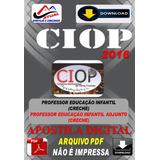 Concurso Ciop Presidente Prudente Sp Professor 2016