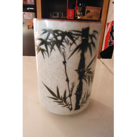 Vaso Cafe Bambu Ceramica Oriental Japon Restaurant Bar
