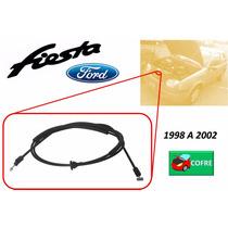 98-02 Ford Fiesta Chicote Cerradura De Cofre Sin Jaladera