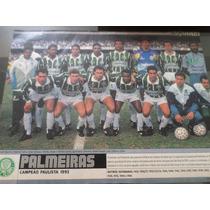 Poster Placar Palmeiras Campeão Paulista 1993 21x27cm