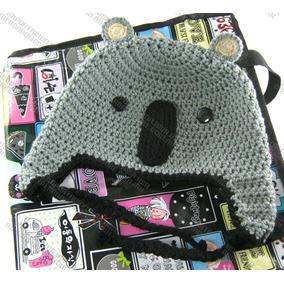 Gorras Tejidas De Koala Estambre Crochet Para Adulto Y Bebé