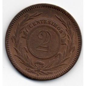 2 Centesimos De Bronze De 1869