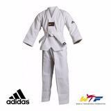 Dobok Adidas Taekwondo Adistart Gola Branca T.160cm Wtf