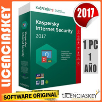 Licencia Kaspersky Internet Security 2017 1pc/1año Garantía