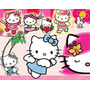 Kit Imprimible Hello Kitty, Tarjetas,invitaciones,cajitas