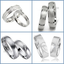 Exclusivas Argollas Oro Blanco Plata Matrimoniales Regalo