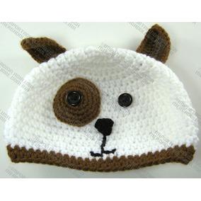 Gorras Tejidas De Perrito Estambre Crochet Para Adulto Bebé