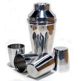 Coqueteleira De Aluminio + 4 Copos Mod 1452