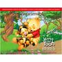 Kit Imprimible Winnie Pooh Bebes Tarjetas Cumple Cotillones