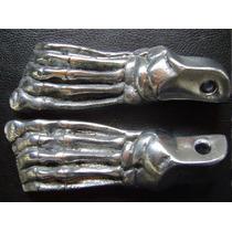 Pedaleiras Pé De Caveira Cbx250 Twister Em Alumínio 4 Peças