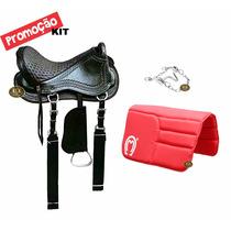 Sela Australiana Barata Kit +manta+freio Para Cavalo