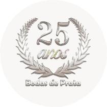 Lembrancinha Adesivo Bodas De Prata 25 Anos Casamento 150 Un