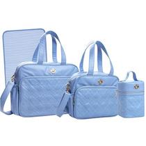 Kit Bolsas Maternidade E Frasqueira Tigor T.tigre Azul