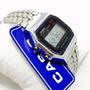 Relógio Aço Cassio Dourado Prata Digital Unissex