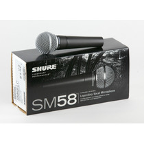 Microfone Dinâmico Cardióide Shure Sm58