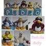 Cubos Com Letras Para Decoração Club Penguin Aniversário