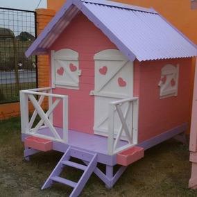 Casa para nios de madera casita de madera infantil entre - Casita infantil madera ...
