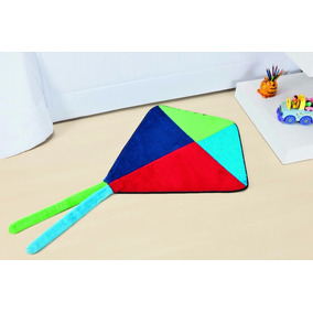 Tapete Para Quarto Infantil Pipa Colorida 0,70cm X 0,70cm