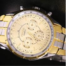 Relógio De Pulso Quartz Aço Inox Rosra Original Masculino
