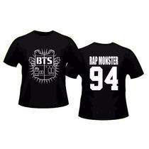 Camiseta Kpop Bts Jung Kook K-pop Rap Monster 94